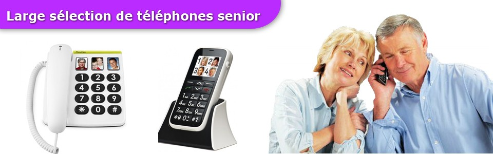 Téléphones Senior grosses touches amplifié